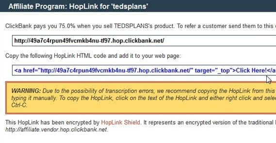 Hoplink Shortened URL