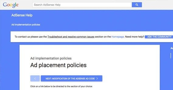 Ad Placement Policies