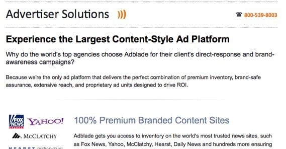 Advertisers on Adblade