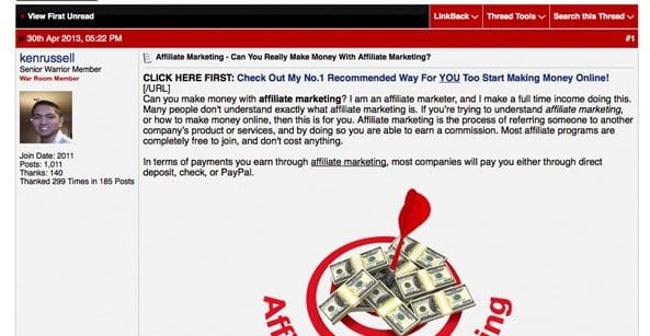 Bad Advice for Affiliate Marketing