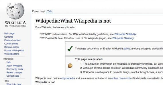 What Wikipedia is Not