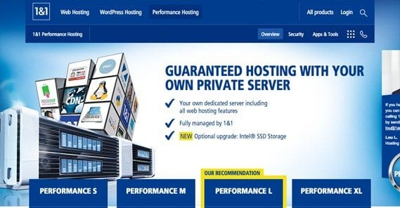1and1 Performance Hosting