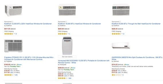 Air Conditioners on Amazon