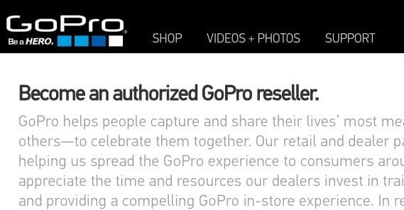 GoPro Authorized Reseller