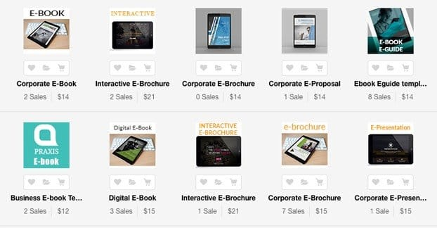 Examples of Paid Templates