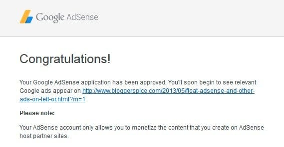 AdSense Accepted