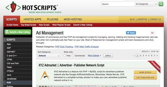 Hotscripts Ad Management