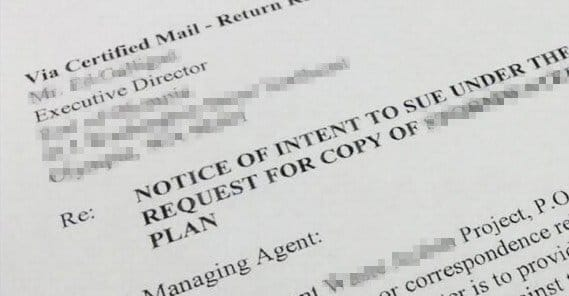 Notice Intent to File Lawsuit