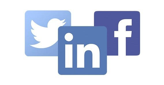 Facebook Twitter and LinkedIn Icons