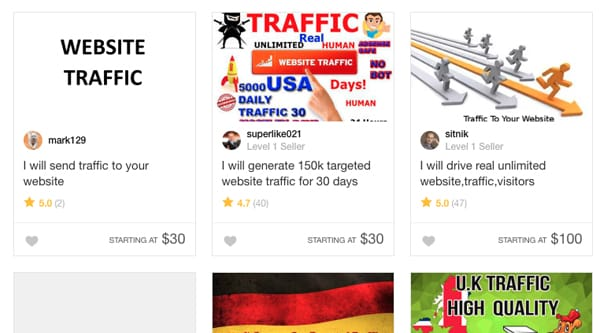 Example Fiverr Traffic