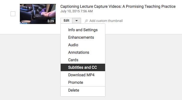 Closed Captions on YouTube