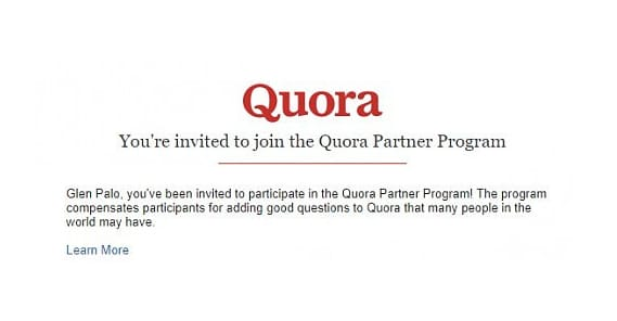 Quora Invitation