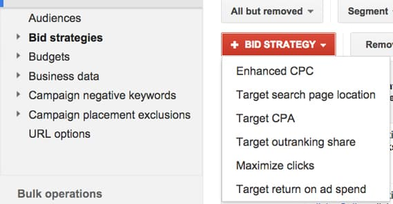 Google Bid Strategies