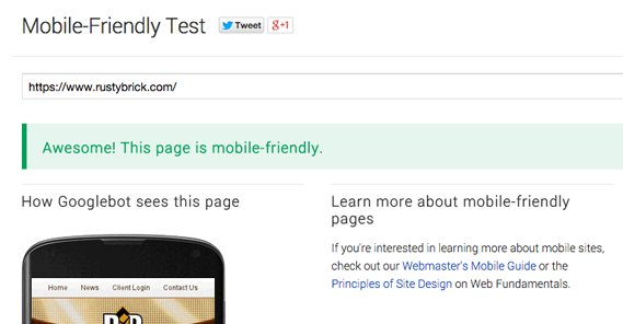 Mobile Friendly Example