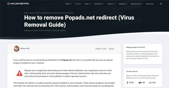 PopAds Redirect Virus