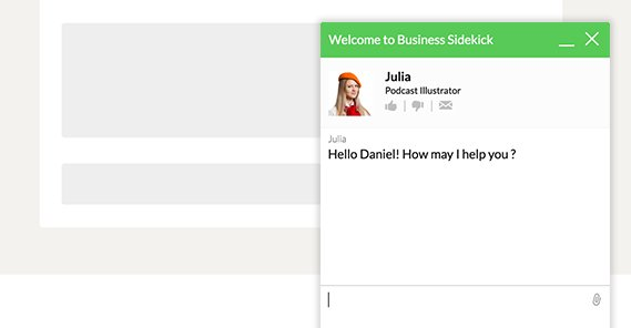Example Live Chat on B2B Site
