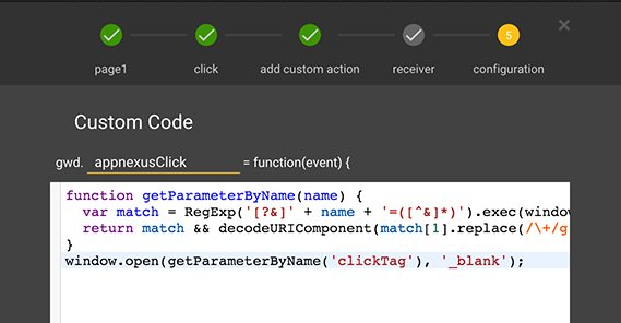 HTML5 Clicktag Example