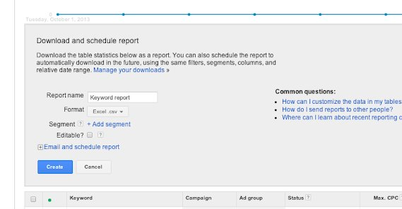 Scheduling Google Ad Report