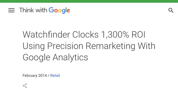 Think With Google Watchfinder Case Study