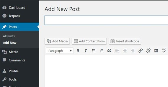 Adding a Post in WP