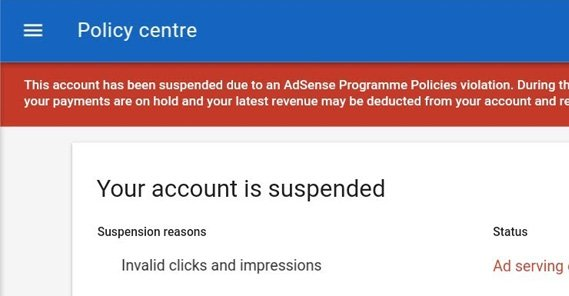 Google Account Suspended