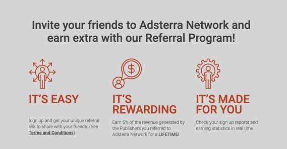Adsterra Referral Program