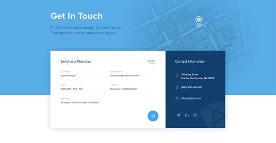 Contact Us Page Design