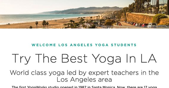 Example Yoga Site for LA