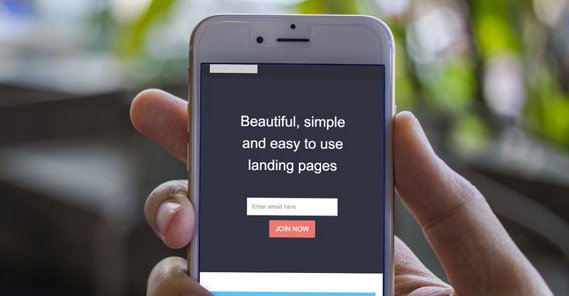Landing Page on Mobile